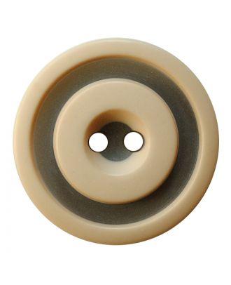 Polyesterknopf rund in zweifarbiger, matter Optik mit 2 Löchern - Größe:  30mm - Farbe: beige - ArtNr.: 387824