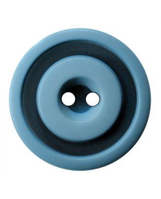 Polyesterknopf rund in zweifarbiger, matter Optik mit 2 Löchern - Größe:  30mm - Farbe: hellblau - ArtNr.: 387827