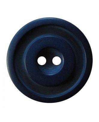 Polyesterknopf rund in zweifarbiger, matter Optik mit 2 Löchern - Größe:  30mm - Farbe: dunkelblau - ArtNr.: 387829