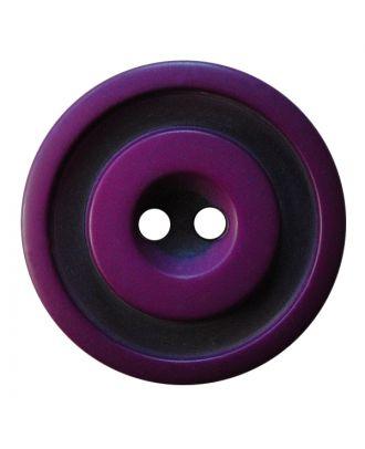 Polyesterknopf rund in zweifarbiger, matter Optik mit 2 Löchern - Größe:  30mm - Farbe: lila - ArtNr.: 387830