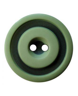 Polyesterknopf rund in zweifarbiger, matter Optik mit 2 Löchern - Größe:  30mm - Farbe: hellgrün - ArtNr.: 387831