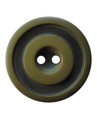 Polyesterknopf rund in zweifarbiger, matter Optik mit 2 Löchern - Größe:  25mm - Farbe: khaki - ArtNr.: 377808