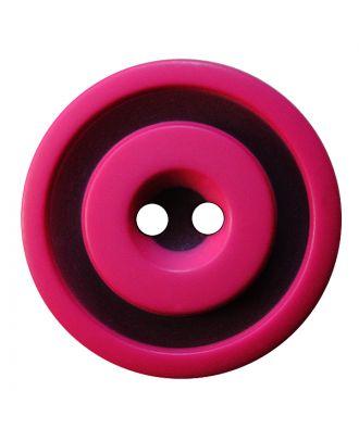 Polyesterknopf rund in zweifarbiger, matter Optik mit 2 Löchern - Größe:  30mm - Farbe: pink - ArtNr.: 387833
