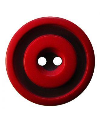 Polyesterknopf rund in zweifarbiger, matter Optik mit 2 Löchern - Größe:  20mm - Farbe: rot - ArtNr.: 337810