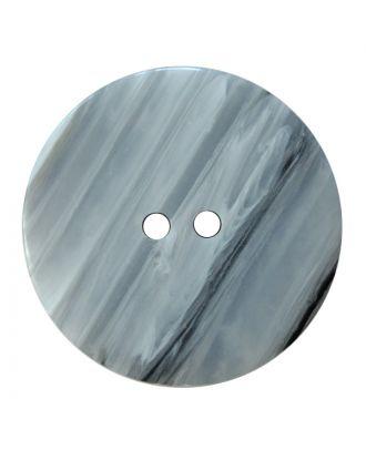 Polyesterknopf rund in glänzender Optik mit feiner Struktur und 2 Löchern - Größe:  28mm - Farbe: weiß - ArtNr.: 380421