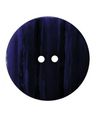 Polyesterknopf rund in glänzender Optik mit feiner Struktur und 2 Löchern - Größe:  18mm - Farbe: dunkelblau - ArtNr.: 317828