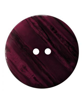 Polyesterknopf rund in glänzender Optik mit feiner Struktur und 2 Löchern - Größe:  18mm - Farbe: lila - ArtNr.: 317829