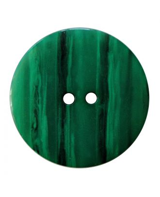 Polyesterknopf rund in glänzender Optik mit feiner Struktur und 2 Löchern - Größe:  18mm - Farbe: grün - ArtNr.: 317830