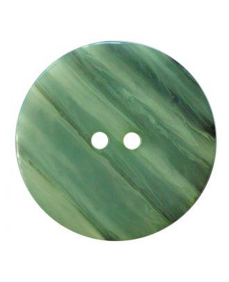 Polyesterknopf rund in glänzender Optik mit feiner Struktur und 2 Löchern - Größe:  28mm - Farbe: hellgrün - ArtNr.: 387843
