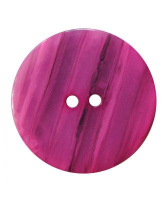 Polyesterknopf rund in glänzender Optik mit feiner Struktur und 2 Löchern - Größe:  28mm - Farbe: pink - ArtNr.: 387845