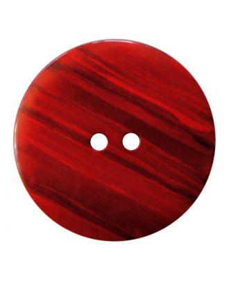 Polyesterknopf rund in glänzender Optik mit feiner Struktur und 2 Löchern - Größe:  18mm - Farbe: rot - ArtNr.: 317834