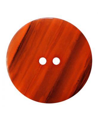 Polyesterknopf rund in glänzender Optik mit feiner Struktur und 2 Löchern - Größe:  28mm - Farbe: orange - ArtNr.: 387847