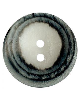 Polyesterknopf rund in matter Optik mit Struktur und 2 Löchern - Größe:  18mm - Farbe: weiß - ArtNr.: 311114