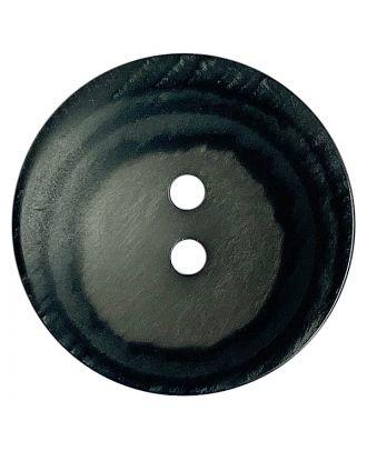 Polyesterknopf rund in matter Optik mit Struktur und 2 Löchern - Größe:  18mm - Farbe: grau - ArtNr.: 318810