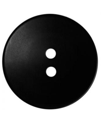 Polyesterknopf rund in matter Optik mit Struktur und 2 Löchern - Größe:  28mm - Farbe: schwarz - ArtNr.: 380424