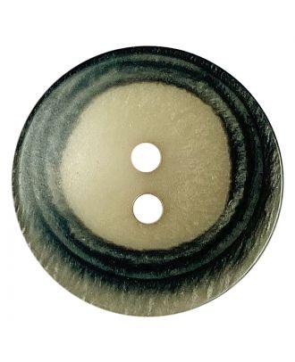 Polyesterknopf rund in matter Optik mit Struktur und 2 Löchern - Größe:  28mm - Farbe: beige - ArtNr.: 388801