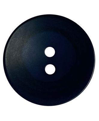 Polyesterknopf rund in matter Optik mit Struktur und 2 Löchern - Größe:  28mm - Farbe: dunkelblau - ArtNr.: 388803