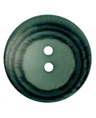Polyesterknopf rund in matter Optik mit Struktur und 2 Löchern - Größe:  28mm - Farbe: grün - ArtNr.: 388805