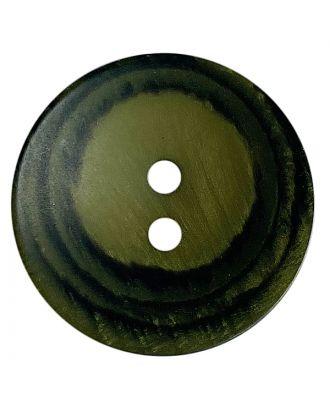 Polyesterknopf rund in matter Optik mit Struktur und 2 Löchern - Größe:  28mm - Farbe: khaki - ArtNr.: 388806
