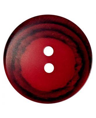 Polyesterknopf rund in matter Optik mit Struktur und 2 Löchern - Größe:  28mm - Farbe: rot - ArtNr.: 388808