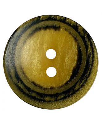 Polyesterknopf rund in matter Optik mit Struktur und 2 Löchern - Größe:  28mm - Farbe: gelb - ArtNr.: 388809