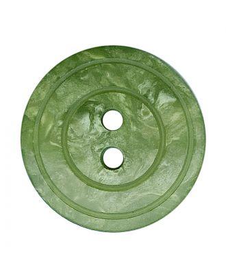 Polyesterknopf rund in glänzender Optik mit Perlmutteffekt und 2 Löchern - Größe:  20mm - Farbe: hellgrün - ArtNr.: 338803