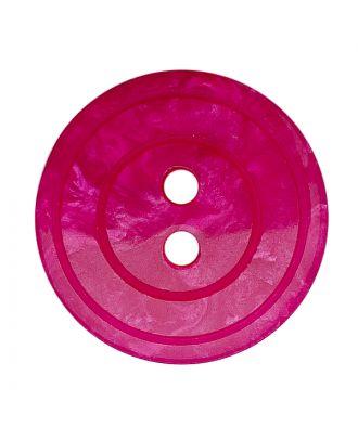 Polyesterknopf rund in glänzender Optik mit Perlmutteffekt und 2 Löchern - Größe:  18mm - Farbe: pink - ArtNr.: 318846