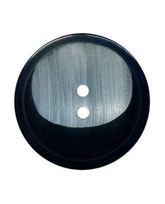 Polyesterknopf rund mit 2 Löchern - Größe:  18mm - Farbe: schwarz - ArtNr.: 311139