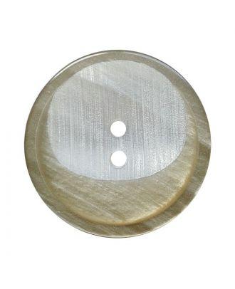 Polyesterknopf rund mit 2 Löchern - Größe:  28mm - Farbe: beige - ArtNr.: 382017
