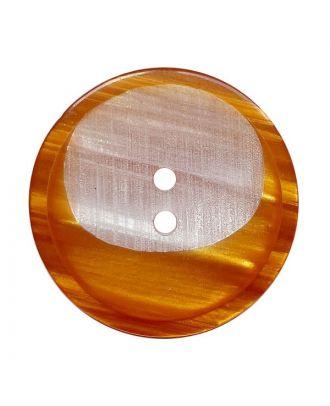 Polyesterknopf rund mit 2 Löchern - Größe:  28mm - Farbe: braun - ArtNr.: 382019