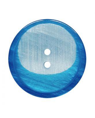 Polyesterknopf rund mit 2 Löchern - Größe:  18mm - Farbe: blau - ArtNr.: 312014