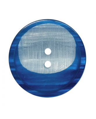 Polyesterknopf rund mit 2 Löchern - Größe:  28mm - Farbe: dunkelblau - ArtNr.: 382021