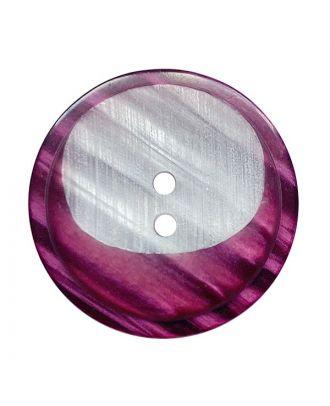 Polyesterknopf rund mit 2 Löchern - Größe:  28mm - Farbe: brombeer - ArtNr.: 382022