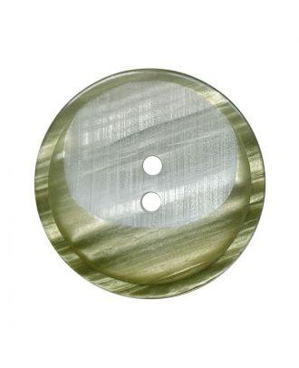 Polyesterknopf rund mit 2 Löchern - Größe:  28mm - Farbe: khaki - ArtNr.: 382023