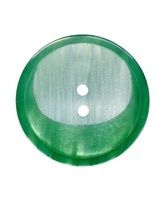 Polyesterknopf rund mit 2 Löchern - Größe:  28mm - Farbe: grün - ArtNr.: 382024