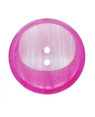 Polyesterknopf rund mit 2 Löchern - Größe:  28mm - Farbe: pink - ArtNr.: 382025