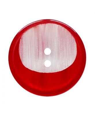 Polyesterknopf rund mit 2 Löchern - Größe:  28mm - Farbe: rot - ArtNr.: 382026