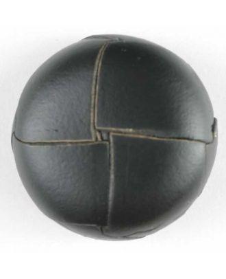 Echter Lederknopf mit unterbrochener Oberfläche -  Größe: 18mm - Farbe: schwarz - Art.Nr. 370288