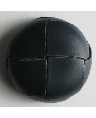 Echter Lederknopf mit unterbrochener Oberfläche - Größe: 18mm - Farbe: blau - Art.Nr. 370291