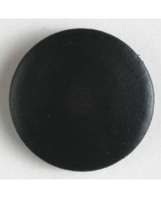 Hochwertiger Lederknopf in schlichter Optik - Größe: 20mm - Farbe: schwarz - Art.Nr. 380137