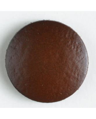 Echter Lederknopf - Größe: 15mm - Farbe: braun - Art.-Nr.: 350373