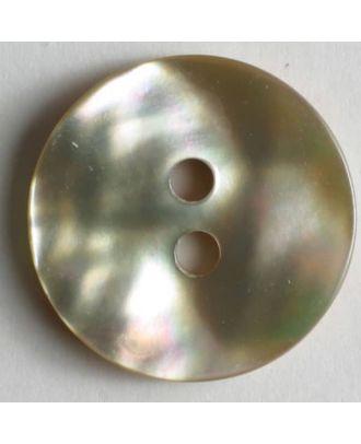 schillernder Perlmuttknopf - Größe: 15mm - Farbe: beige - Art.Nr. 330610
