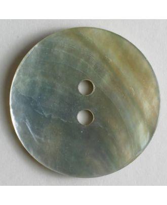 echter Perlmuttknopf mit schöner Oberfläche - Größe: 28mm - Farbe: weiß - Art.Nr. 370147