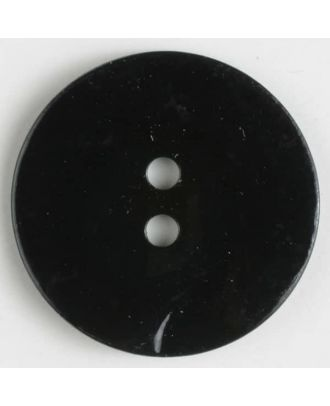 Echter Perlmuttknopf - Größe: 15mm - Farbe: schwarz - Art.-Nr.: 280842