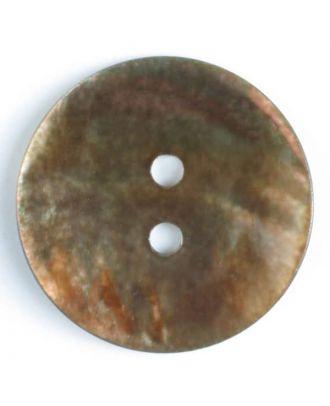 Echter Perlmuttknopf - Größe: 23mm - Farbe: braun - Art.-Nr.: 360475