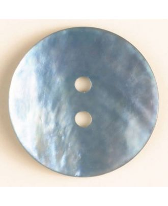 Echter Perlmuttknopf - Größe: 23mm - Farbe: blau - Art.-Nr.: 360477