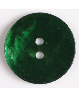 Echter Perlmuttknopf - Größe: 13mm - Farbe: grün - Art.-Nr.: 241190