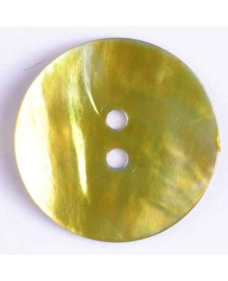 Echter Perlmuttknopf - Größe: 15mm - Farbe: grün - Art.-Nr.: 280844