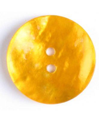 Echter Perlmuttknopf - Größe: 20mm - Farbe: gelb - Art.-Nr.: 340703