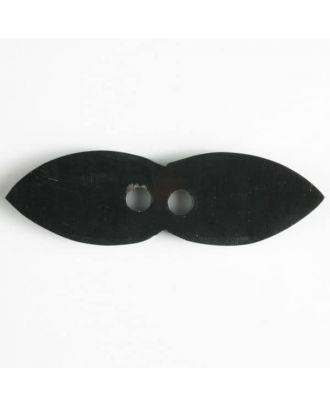 """Echter Hornknopf """"Schnauzbart"""", 2-loch - Größe: 66mm - Farbe: braun - Art.Nr. 470047"""